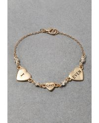 Forever 21 | Metallic Flash Trash Cant Even Charm Bracelet | Lyst