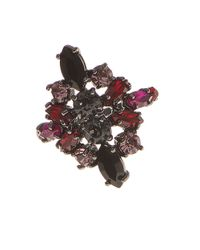 Marchesa | Red Faceted Stone Cocktail Ring | Lyst