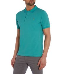 Farah | Green Slim Fit Cotton Pique Polo Shirt for Men | Lyst