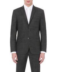 J.Lindeberg Black Hopper Soft 140's Platinum Blazer for men