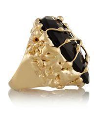 Rosantica - Black Baronessa Golddipped Onyx Ring - Lyst