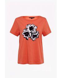 French Connection - Orange Eddie Pop Jersey T-shirt - Lyst
