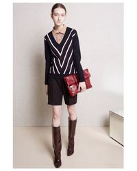 Carven | Wool Merinos Blue Sweater | Lyst