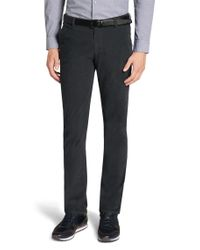 BOSS Gray 'rice-d' | Slim Fit, Stretch Corduroy Trousers for men