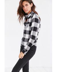 BDG - Black Katie Flannel Button-down Shirt - Lyst