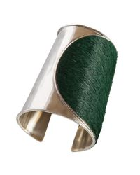 Isabel Englebert - Green London Round Cuff Silver - Lyst