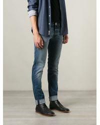 Pt05 Blue Skinny Jeans for men