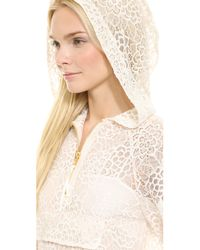 Moschino Hooded Lace Dress - White