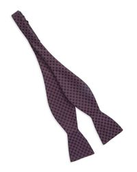 Vince Camuto Purple Textured Bow Tie for men