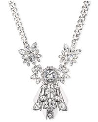 Givenchy | Metallic Rhodium-Tone Crystal Drama Pendant Necklace | Lyst