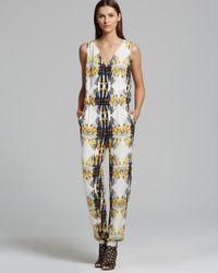 Rebecca Minkoff White Mara Printed Silk Jumpsuit