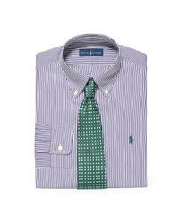 Polo Ralph Lauren - Purple Slim Striped Broadcloth Shirt for Men - Lyst