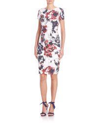 Carolina Herrera - Multicolor Roses & Dots Cloque Dress - Lyst