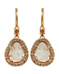 Sharon Khazzam | Metallic Brown Diamond Slice Earrings | Lyst