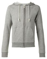 Band of Outsiders - Gray Zipped Hoodie for Men - Lyst