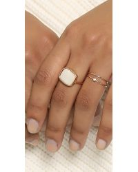 Ginette NY | Metallic Antiqued Ring - Pearl/rose Gold | Lyst