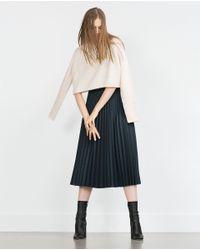 Zara | White Round Neck Sweater | Lyst