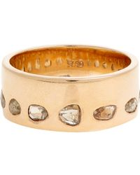 Dezso by Sara Beltran - Metallic Diamond & Rose Gold Band - Lyst