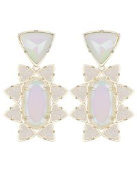 Kendra Scott | Metallic Auden Statement Earrings, Iridescent | Lyst