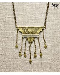 Tokyo Darling | Metallic Southwest Geo Necklace | Lyst