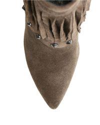 William Rast | Brown Yolanda Fringed Suede Boots | Lyst