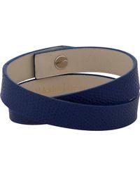 Valextra | Blue Leather Wrap Bracelet for Men | Lyst