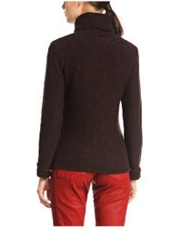 BOSS Orange | Brown Polo Neck Sweater 'imojean' In New Wool | Lyst