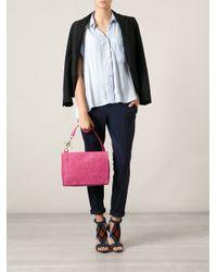Vivienne Westwood Pink Floral Embossed Shoulder Bag