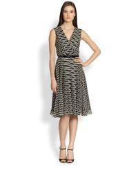 Ralph Lauren Collection | Gray Silk Chiffon Fabian Dress | Lyst