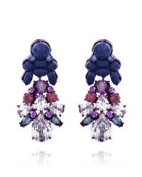 EK Thongprasert Blue Aguilegia Alpina Earrings