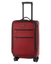 Victorinox | Red Victorinox Swiss Army 'lexicon 22' Dual Caster Wheeled Carry-on for Men | Lyst