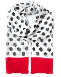 Dolce & Gabbana - White Large Polka Dot Print Scarf - Lyst