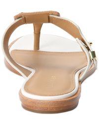 Calvin Klein Metallic Women'S Ula Buckle Thong Sandals