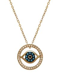 Lord & Taylor | Blue 14k Gold Diamond Evil Eye Necklace | Lyst
