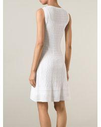 M Missoni - White Zigzag Pattern Dress - Lyst