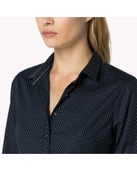 Tommy Hilfiger   Blue Cotton Blend Patterned Shirt   Lyst