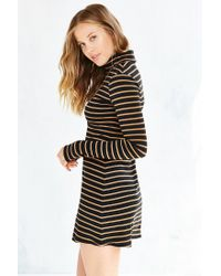 BDG - Black Kaylyn Ribbed Turtleneck Dress - Lyst