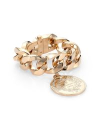 Givenchy | Metallic Medallion Curb Chain Braceletgoldtone | Lyst