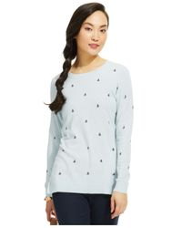 Tommy Hilfiger | Blue Sailboat Sweater | Lyst