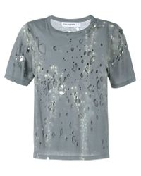 Filles A Papa Gray Twilight Distressed T-shirt