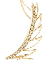 Cristinaortiz Metallic 9-Karat Rose Gold Diamond Large Ear Cuff