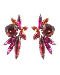 Elizabeth Cole | Purple Gabrielle Earrings, Magenta | Lyst