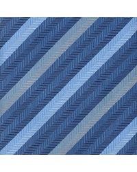 Thomas Pink Blue Heston Woven Striped Tie for men