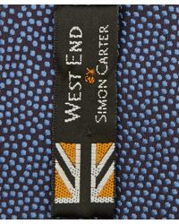 Simon Carter - Blue West End Polka Dot Silk Tie for Men - Lyst