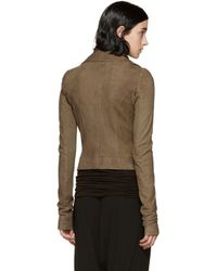 Rick Owens - Brown Tan Suede Clean Jacket - Lyst