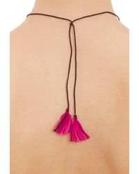 Dezso by Sara Beltran - Black Emerald & Rose Gold Shark Tooth Pendant Necklace - Lyst