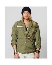 Denim & Supply Ralph Lauren Green Military Shirt Jacket for men