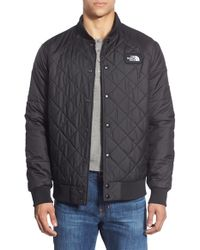 The North Face - Black 'jester' Reversible Snap Front Jacket for Men - Lyst