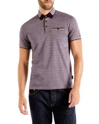 Ted Baker - Purple Taytay Block Colour Oxford Polo Shirt for Men - Lyst