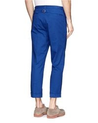 Beams Plus - Blue Stretch Chinos for Men - Lyst